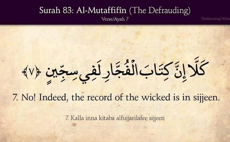 Surah Mutaffifin