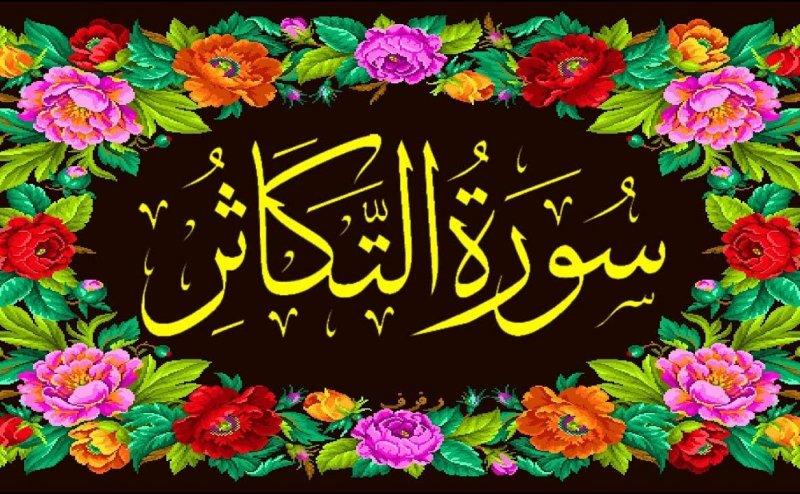 Surah At Takasur Qari Obaid ur Rehman