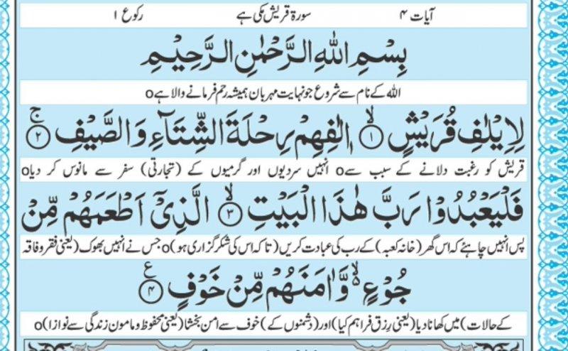 Surah Quraysh