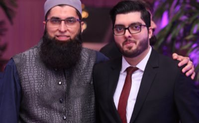 Junaid Jamshed with his Son