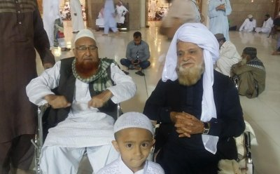 Siddique Ismail with Saeed Hashmi at Madina